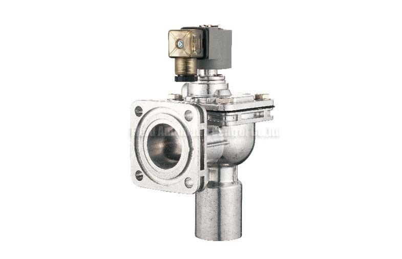 Flange Type Remote Solenoid Pulse Jet Valve , Right Angle Pulse Control Valve