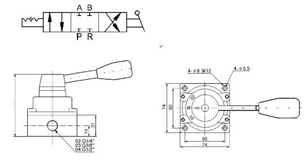 3 V Lvula De Interruptor Manual Pneum Tica G1 4 Da M O Do