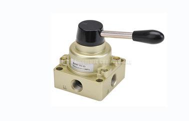 """3 válvula de interruptor manual pneumática G1/4 da mão do controle direcional da maneira da posição 4 """" ~G1/2"""""""